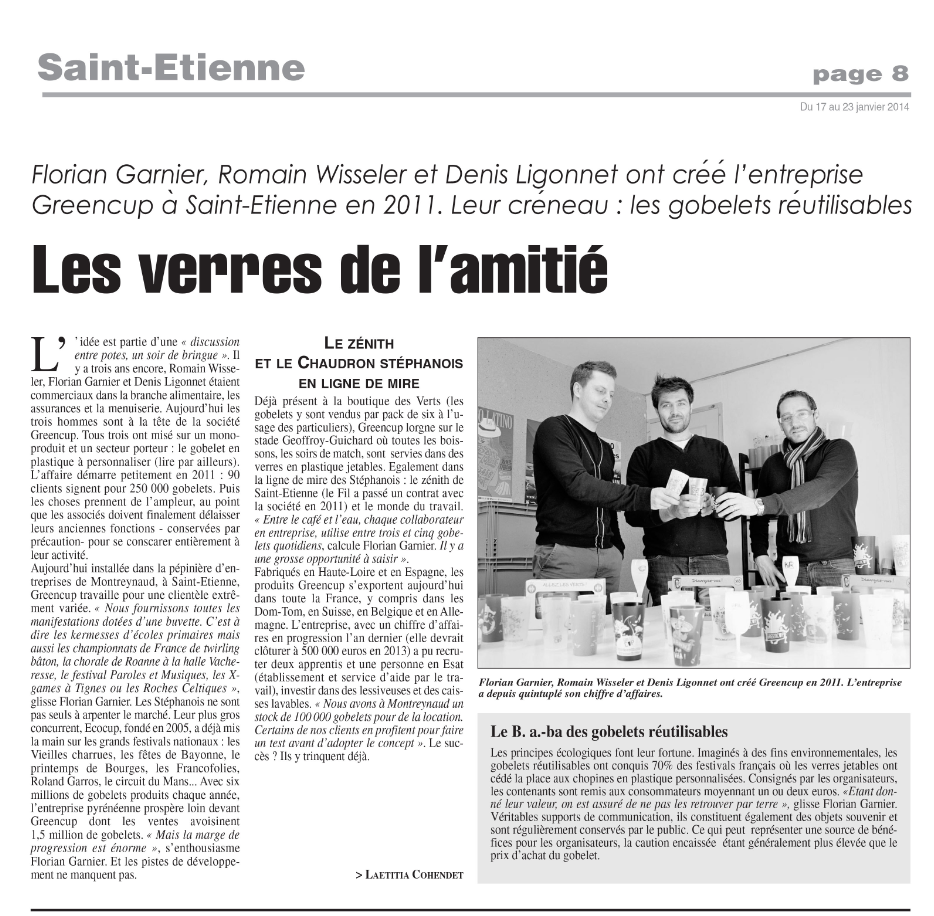 La gazette Greencup