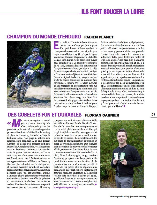 Loire magazine Greencup