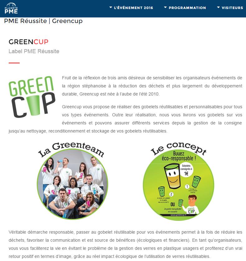 Planète PME Greencup
