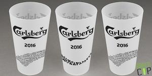 Ecocup Carlsberg pour servir la bière pendant l'EURO2016